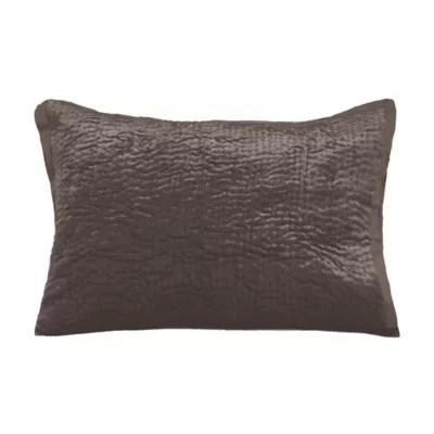 chocolate brown pillow shams bed bath