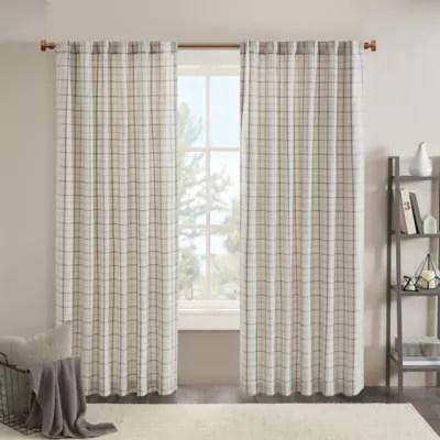plaid curtains bed bath beyond