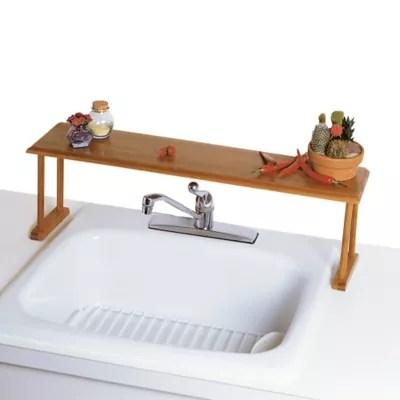 lipper international over the sink bamboo shelf