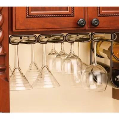 rev a shelf 11 inch quad under cabinet stemware holder