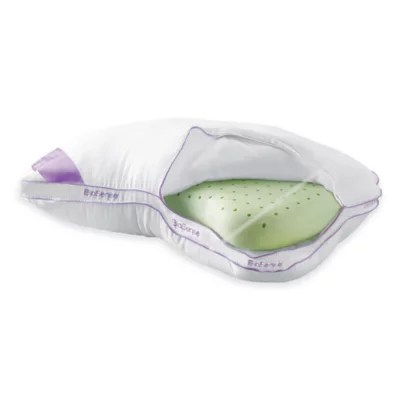 brookstone biosense memory foam 2 in 1 shoulder pillow with better than down cover