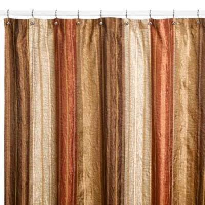 manor hill sierra copper 72 inch x 72 inch fabric shower curtain bed bath beyond