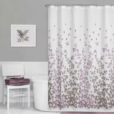 https www bedbathandbeyond com store product maytex leaf print fabric shower curtain in purple 1061484146