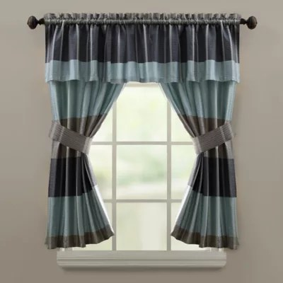 croscill fairfax bath window curtain valance in slate
