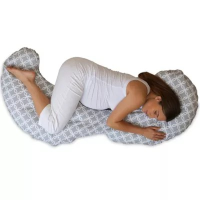 boppy slipcovered contour total body support pillow in ring toss