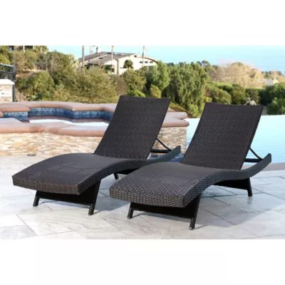 Abbyson Living® Redondo Outdoor Adjustable Wicker Chaise ... on Outdoor Living Wicker  id=67955