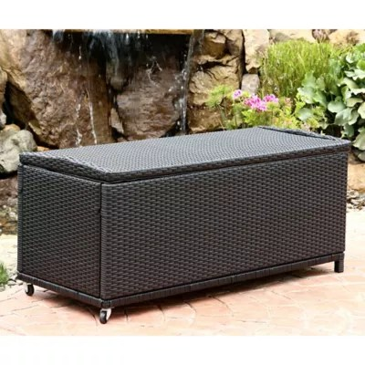 Abbyson Living® Pasadena Outdoor Wicker Storage Ottoman in ... on Outdoor Living Wicker  id=89864