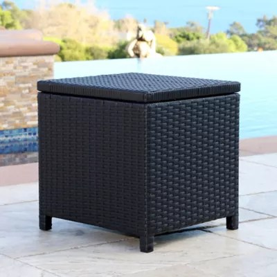 Abbyson Living® Carlsbad Outdoor Wicker Patio Storage ... on Outdoor Living Wicker id=97312
