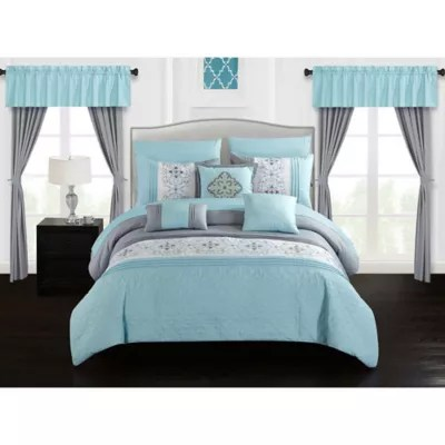 comforter set with curtains bed bath