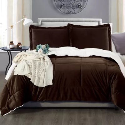 brown comforter sets bed bath beyond