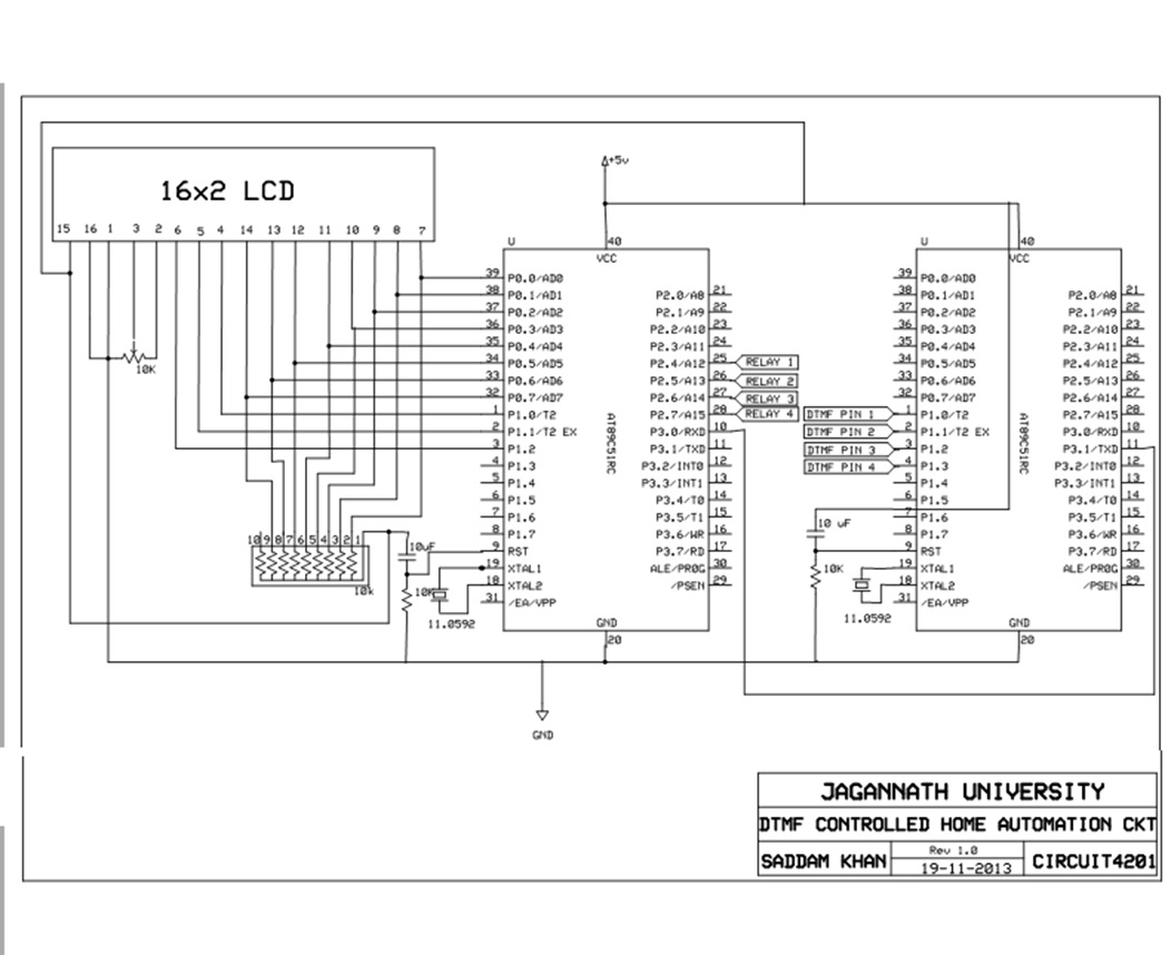 Dtmf Controlled Home Automation System Using