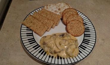 Warm Mushroom Cheese Dip