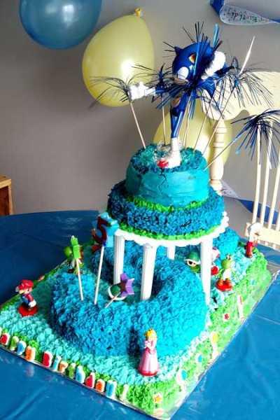 Sonic Mario Birthday Cake