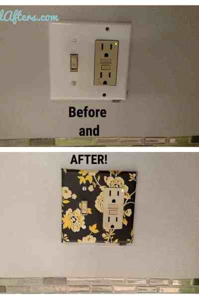 Covering a Light Switch Plate/ Outlet Cover