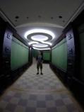In a tunnel in Drvengrad.