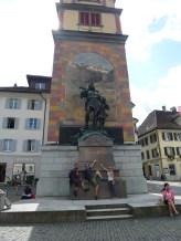 Statue of William Tell in Sandra's home town in Switzerland.