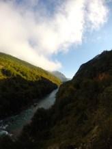 The Tara river forming the border between Bosnia and Montenegro.