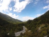 Half way up the 1000m climb from Orikum.
