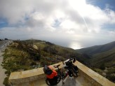 Finally made it to the top of the mountain with amazing views of Corfu.