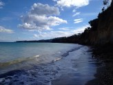The bay looking towards the town of Koroni. This is where our host Rachael collects her clay for sculptures.
