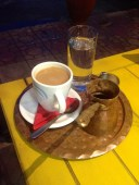 Final Greek coffee before our ferry to Turkey arrived.