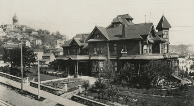 Two-time Mayor Henry Yesler's mansion in about 1900.