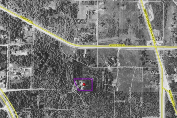 Charles Louch's Rainier Valley estate seen in 1936 Aerial Imagery. King County iMap. Property Details.