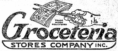 Logo of Groceteria Seattle. The logo indicates that they are cutting prices.