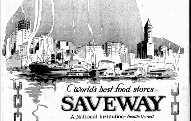 Some of the filler from the ten-page ad for Saveway in the November 12, 1926 Seattle Times