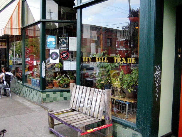 Carl Anderson's first Portland store at 855 Mississippi was renumbered 4007 Mississippi in 1931, and is now home to indie label and shop Mississippi Records (photo Mississippi Records by wselman, on Flickr)