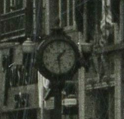 Jacob Young's clock 1t 1409 Fourth, seen in about 1946 (https://www.flickr.com/photos/tigerzombie/5460636166/)