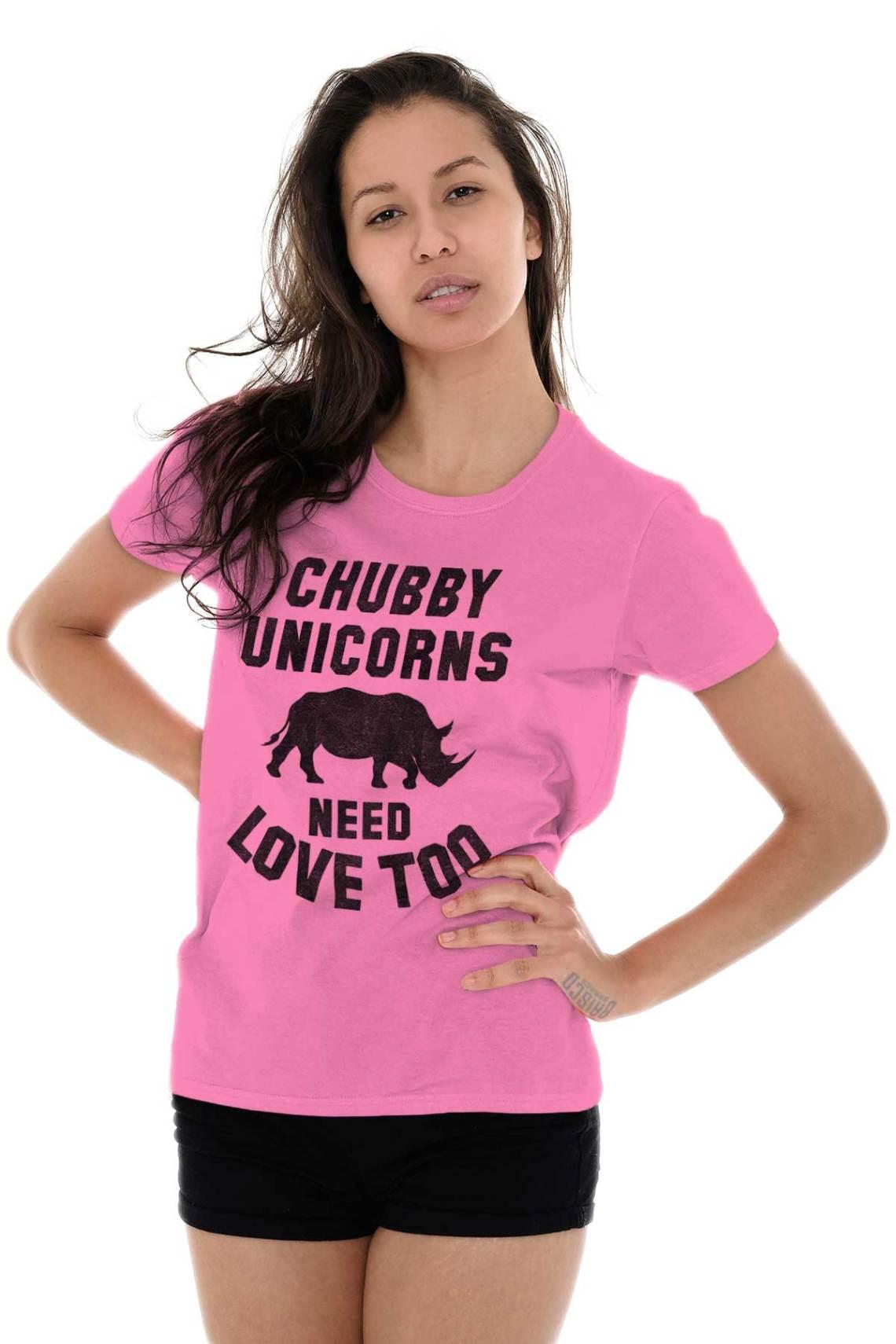 Download Chubby Unicorns Need Love Endangered Rhinos Womens Tees ...