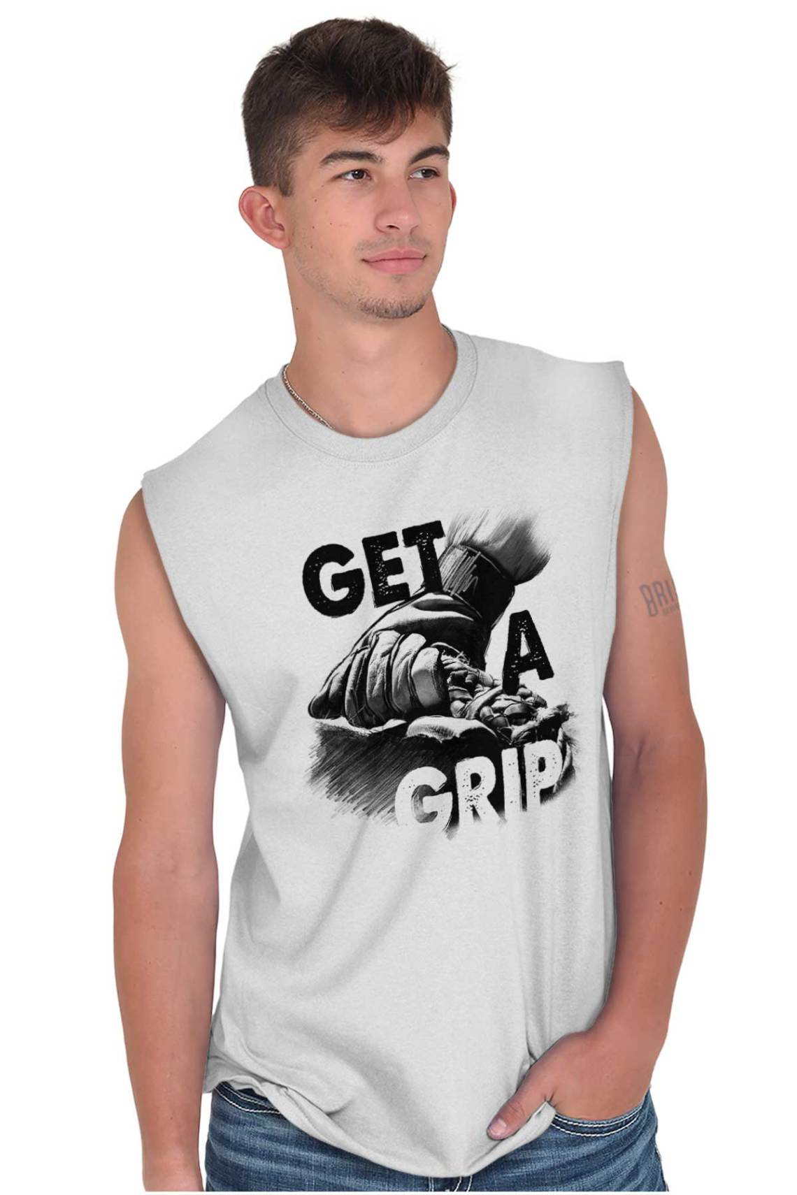 Download Get A Grip American Cowboy Western Country Mens Sleeveless ...