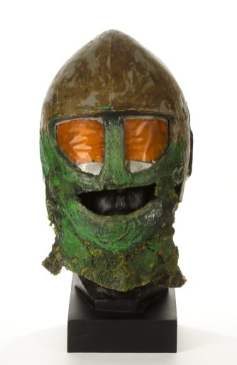 Original screen-used Ice Warrior head, owned by Matt Doe Please byline: Pic: Chris Balcombe FREE for use in all media