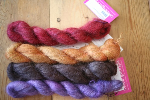 Beautiful colours of Sweet Georgia Mohair Blend