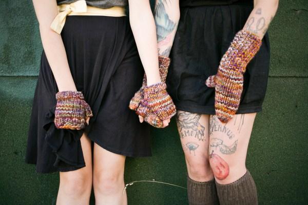 Malabrigo Rasta Mittens and Fingerless gloves