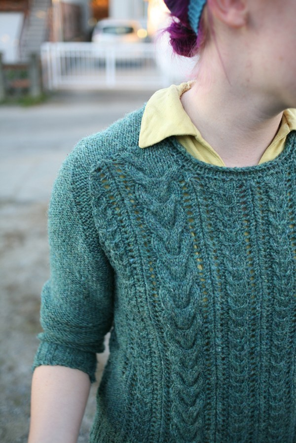 Bray Sweater by Brooklyn Tweed knit in Briggs & Little Regal
