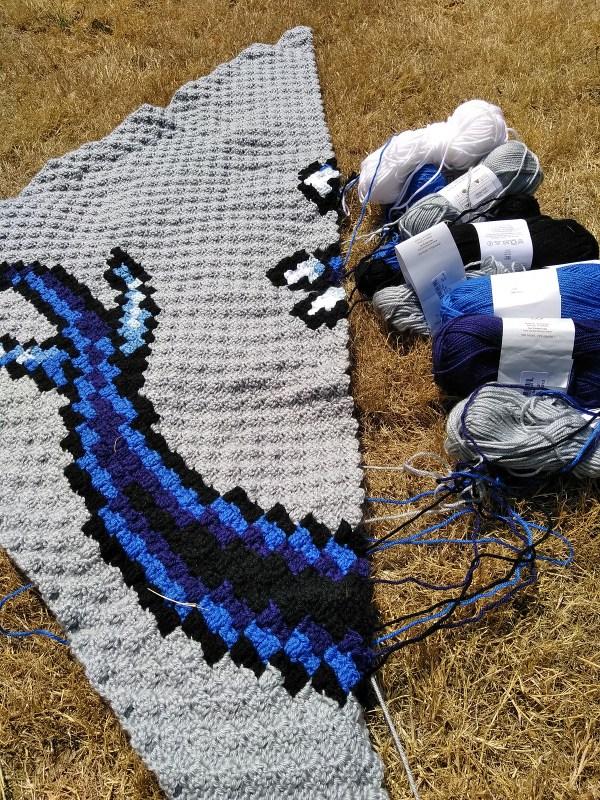 2018 Desert Bus for Hope crochet blanket donation
