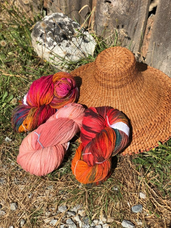 SpiritSong Studio Hand-dyed 2ply Mule Spinner Yarn sold at Baaad Anna's Yarn Store