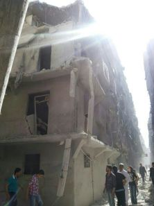 Foto: Ciudad de Alepo tras un ataque aéreo. Fuente: Abo Adham