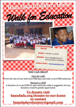 Walk for Education flyer