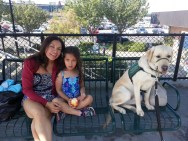 Kelton taking Metrolink to San Clemente with Leticia and Alicia