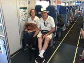 Brian Rancher and Aiden taking Metrolink to SJC