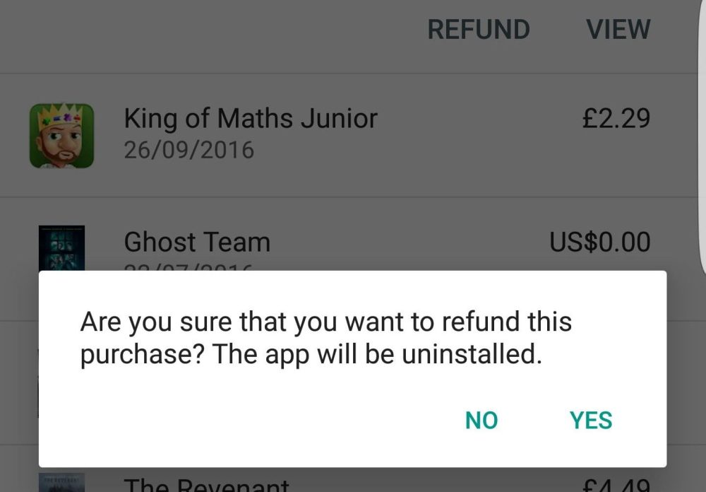 Return the Apps with Full Refund That You Don't Need