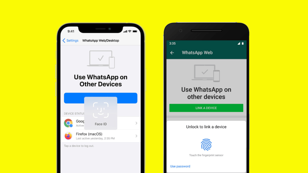 WhatsApp adds biometrics authentication requirement to link account to PC