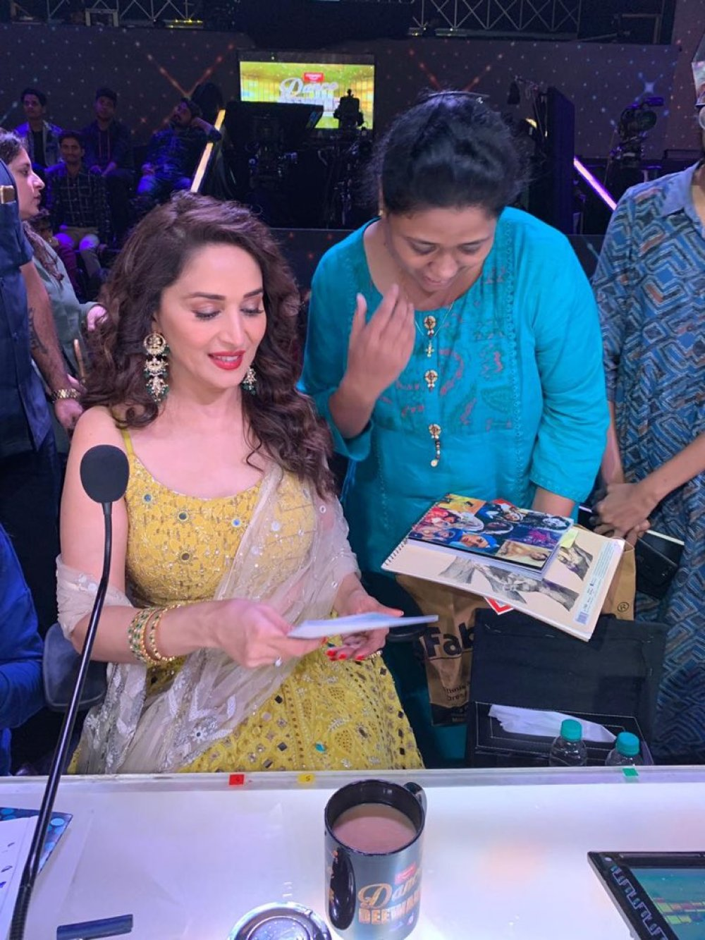 Madhuri Dixit on the sets of DD3