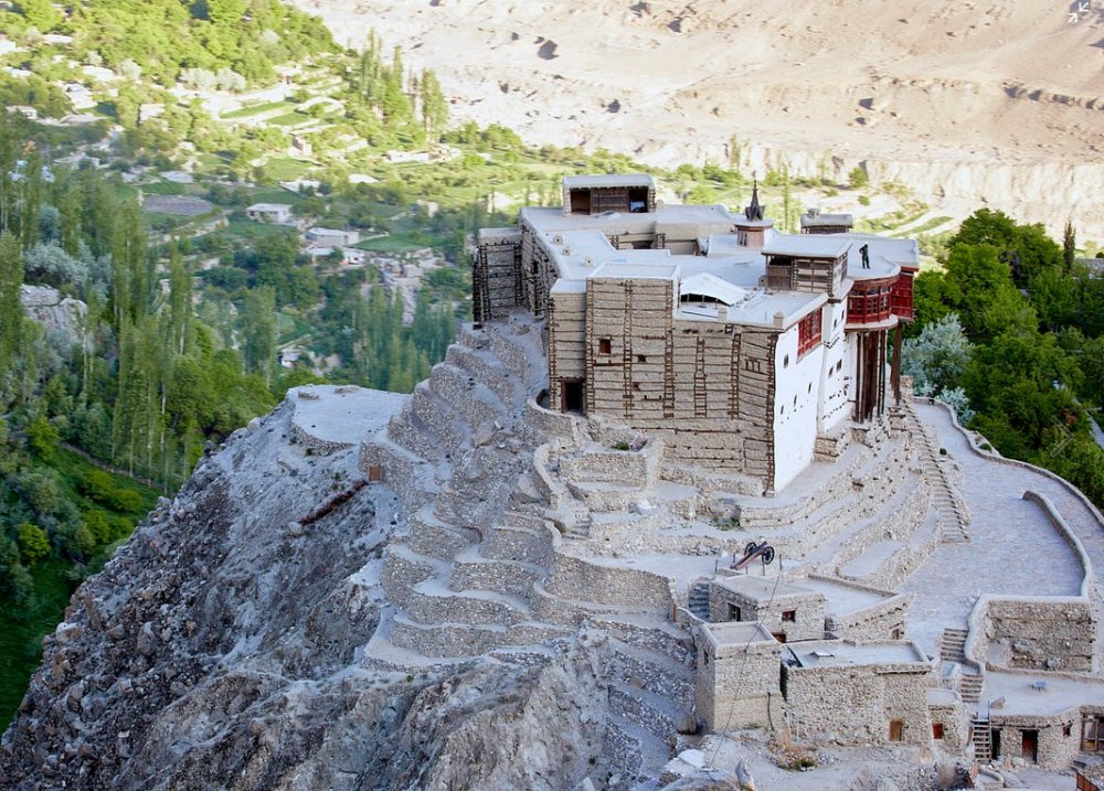Aerial View of Baltit Fort