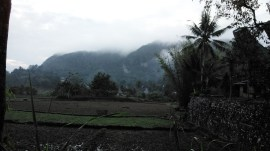 Gunung nona dari kejauhan