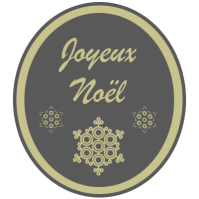 Joyeux Noel etoile gris-dore