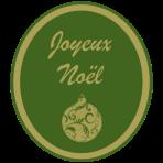 Joyeux Noel vert-dore